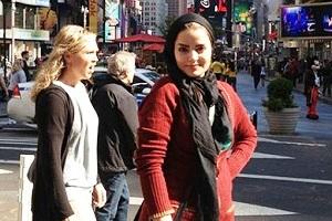 حجاب جالب بازیگر زن ایرانی مشهور در آمریکا!/تصاویر