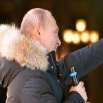 برگزاری جشن پیروز شدن پوتین در انتخابات روسیه