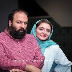 ژست عاشقانه علی اوجی و نرگس محمدی در یک مراسم خصوصی