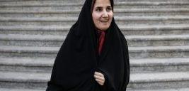 لعیا جنیدی معاون حسن روحانی با پوشش بدون چادر و متفاوت در اروپا !