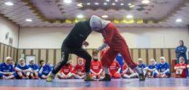 عکس هایی از تمرین تیم ملی کشتی زنان ایران با حجاب اسلامی