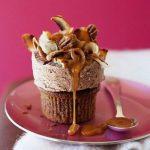 طرز تهیه کیک بستنی شکلاتی کاراملی +عکس