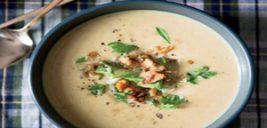 طرز تهیه سوپ گردو و خامه