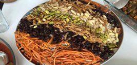 آش تا پلو هفت رنگ، غذاهای مخصوص چهارشنبه سوری