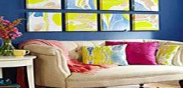 آموزش ساده نقاشی روی کوسن در خانه+تصاویر