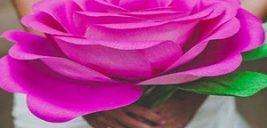 طریقه ساخت گل رز با کاغذ کشی