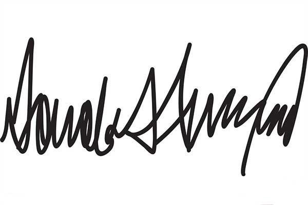 امضای عجیب ترامپ درباره شخصیت او چه میگوید؟ +عکس