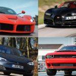 پرشتاب ترین خودروهای جهان در سال 2017