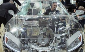 خودروی شفاف و شیشه ای + عکس