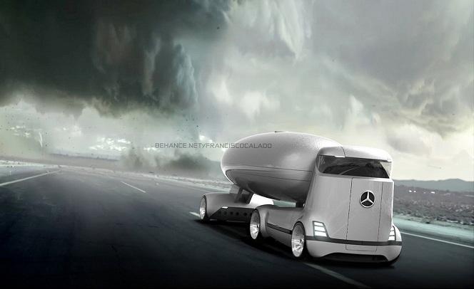 مرسدس با طراحی کامیون های عجیب خود شگفتی آفرید+تصاویر