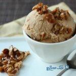 بستنی گردویی با قهوه
