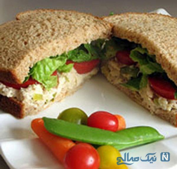 خوراک با تن ماهی