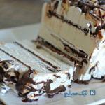 طرز تهیه کیک بستنی بیسکویتی