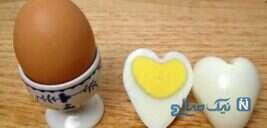 آموزش تصویری تبدیل تخم مرغ آب پز به شکل قلب
