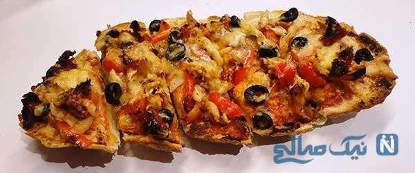 با نان باگت پیتزای سریع و خوشمزه درست کنید!