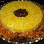 برنج قالبی با مرغ(خیلی مجلسی و خوشمزه)