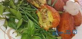 سیب زمینی توپی شکم پر یه غذای خوشگل و خوشمزه