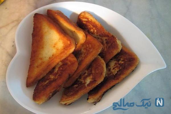 شیرینی فوق العاده ساده و خوشمزه با نان تست!!