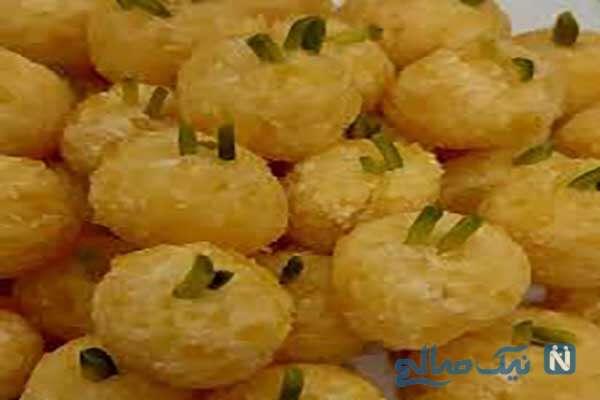 توپک های زردآلویی زیبا و خوشمزه برای نوروز