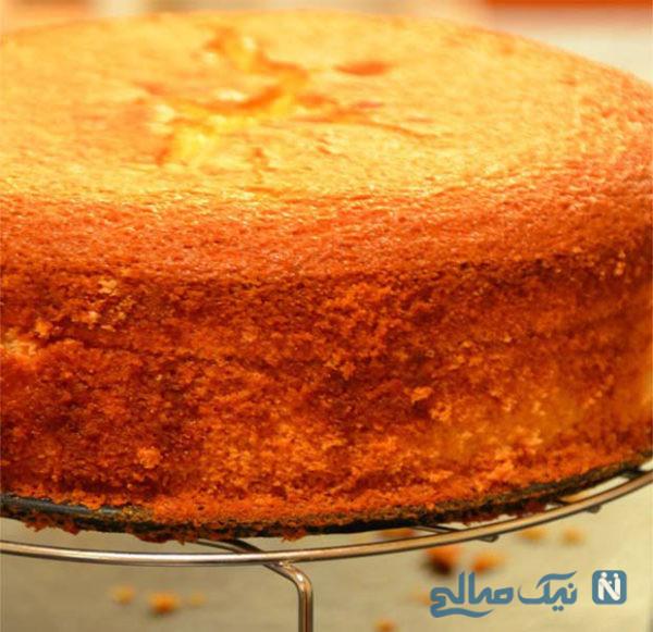 کیک اسفنجی با پف زیاد