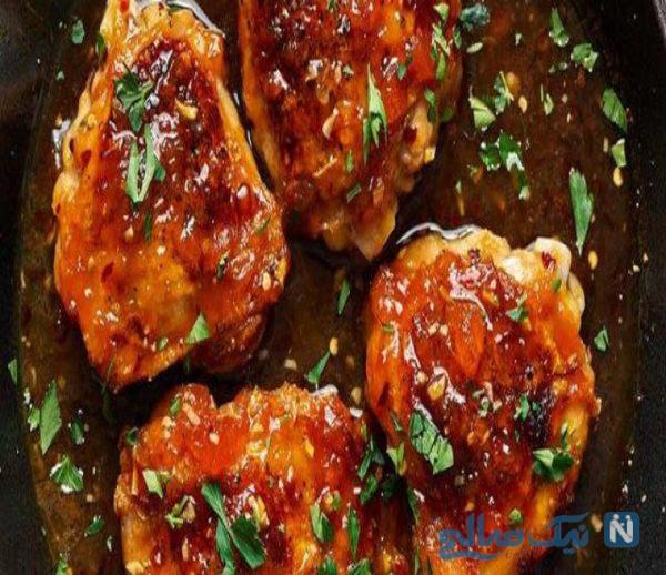 خوراک مرغ با رب انار