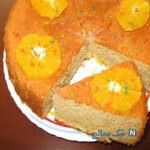 کیک پرتقالی بسیار خوش عطر و خوش طعم
