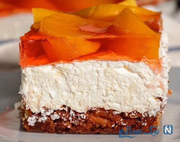 بستنی پرتقالی ژله ای