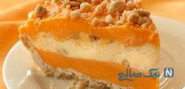 بستنی پرتقالی ژله ای بسیار وسوسه انگیز! +عکس