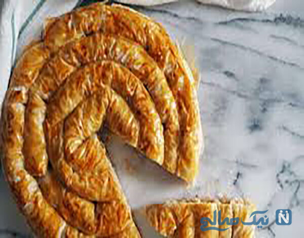 بورک گوشت به شکل گل