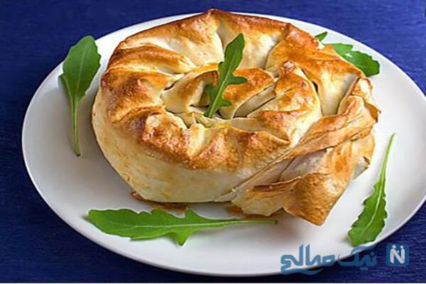بورک گوشت به شکل گل! بسیار زیبا و خوشمزه!