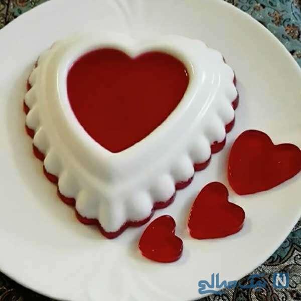 ژله قلبی شکل