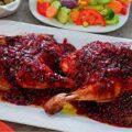 مرغ سوخاری با سس ترش انار بسیار خوش طعم!
