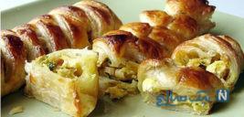 رولت مرغ با خمیرهزارلا, غذای مجلسی بسیار لذیذ!