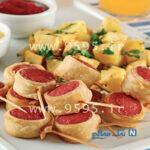 سوسیس با ورقه های یوفکا, یک پیش غذای سریع و لذیذ!