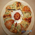 غذایی شیک و متفاوت با رینگ مرغ و پیازچه! +عکس
