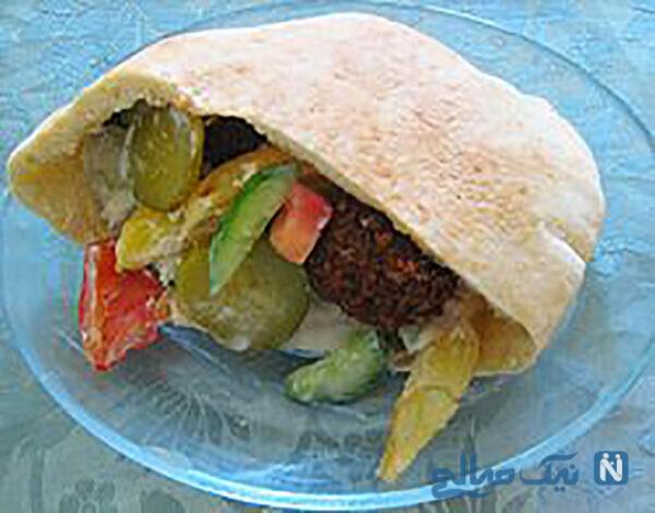 نان پیتای لبنانی