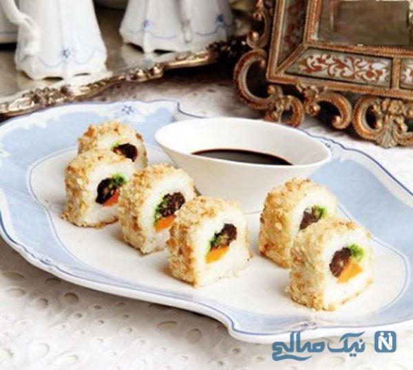 سوشی برنج یک غذای جدید و خوشمزه برای افطار! +عکس