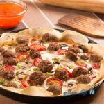 پیتزا تزئینی با خمیر یوفکا متفاوت و خوشمزه!