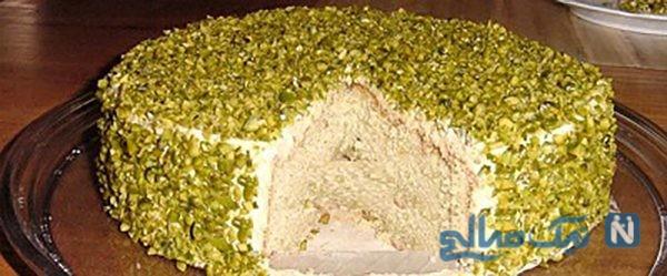 چیز کیک پسته ای مقوی ، خوشمزه و مجلسی! +عکس
