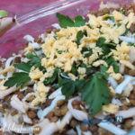 سالاد عدس با تخم مرغ غذای بسیار ساده اما غنی! +عکس