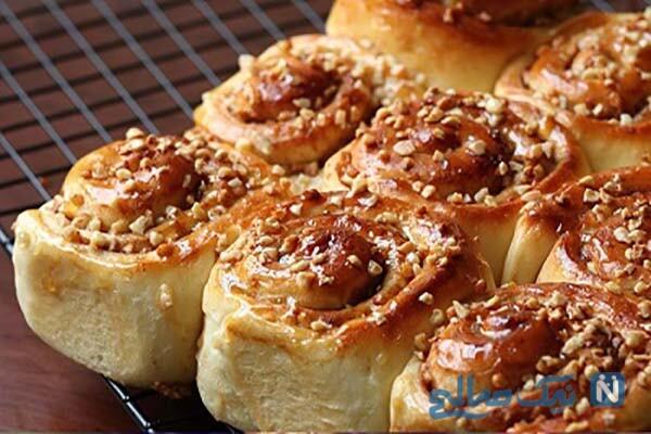 شیرینی گل محمدی دانمارکی به سبک خانگی!