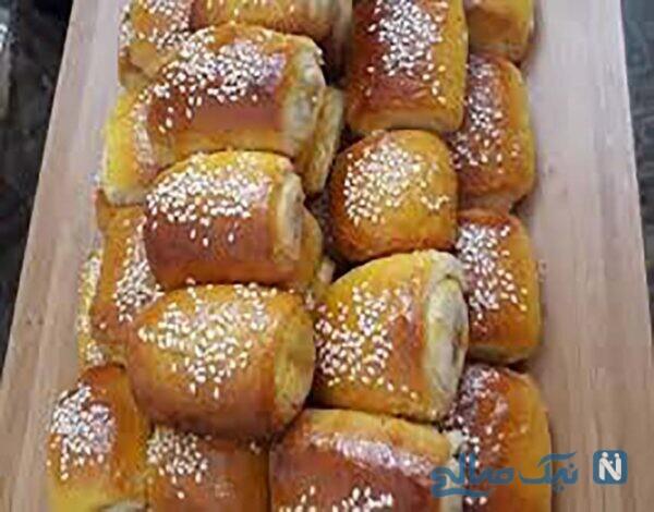 شیرینی دانمارکی گل محمدی