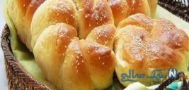 طرز تهیه نان شیرین مخصوص صبحانه و عصرانه! +عکس