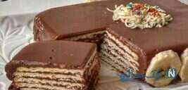 یک کیک سریع ، زیبا و لذیذ با بیسکوییت و کره!