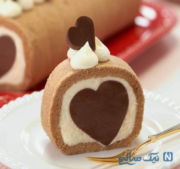 کیک قلب مخفی