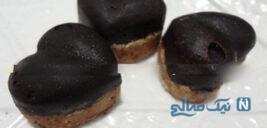 شکلات قالبی با پایه بیسکوییت بسیار آسان و خوشمزه!