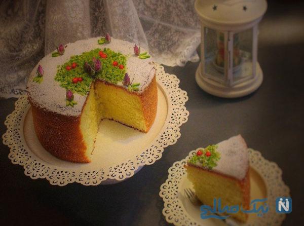 کیک هل و گلاب