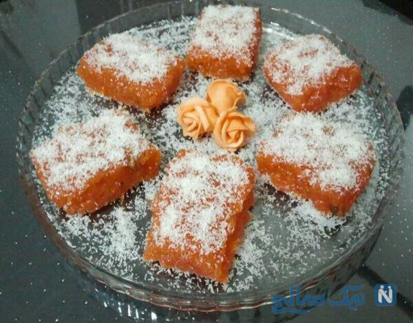 دسر هویج و نارگیل