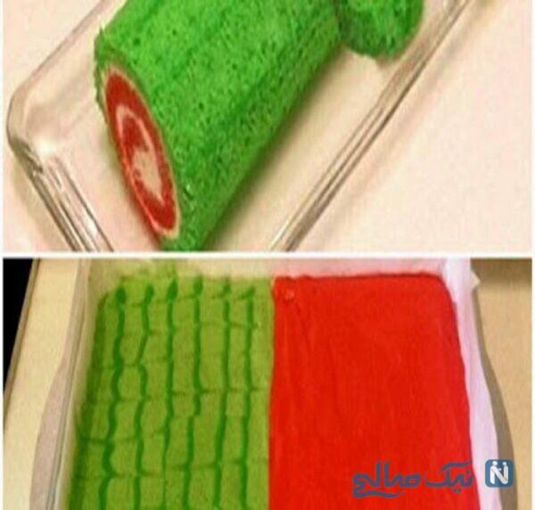 کیک رولت هندوانه ای