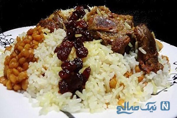 لپه کشمش پلو با ماهیچه، غذای سنتی لذیذ و پرکالری!